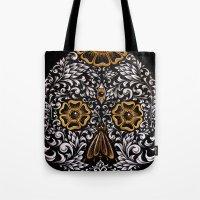 calavera Tote Bags featuring CALAVERA by Nick Potash