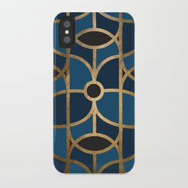 Art Deco Blue Dreams iPhone Case
