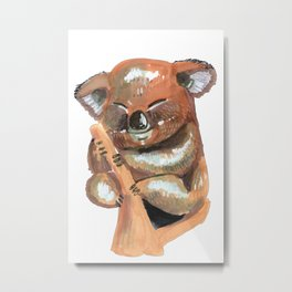 Kawaii Koala Metal Print