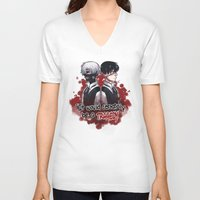 tokyo ghoul V-neck T-shirts featuring Tokyo Ghoul TRAGEDY  by lilbutt