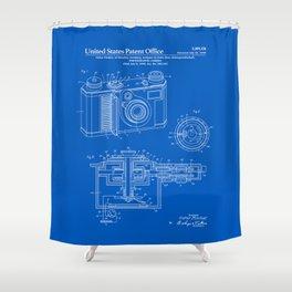 Camera Patent - Blueprint Shower Curtain