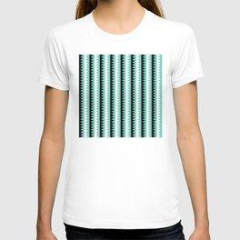Geometric Pattern #190 (teal zigzag) T-shirt