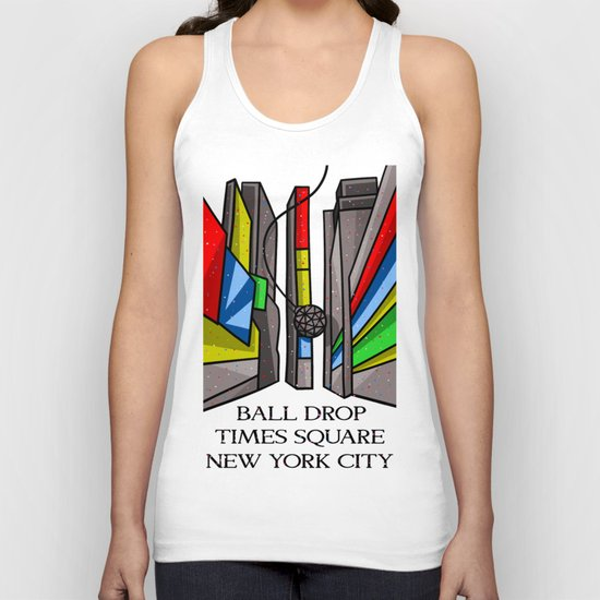 Ball Drop Times Square Unisex Tank Top