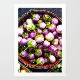 Farmer's Market Eggplants Art Print