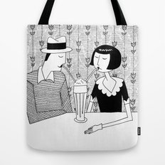 They shared a chocolate shake and some dreams Tote Bag