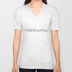 I Still Shoot Film - 1line Unisex V-Neck