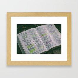 Psalms Framed Art Print