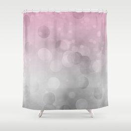 Pink  Grey Soft Gradient Bokeh Lights Shower Curtain