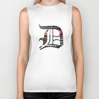 detroit Biker Tanks featuring Detroit by Speed-Photos