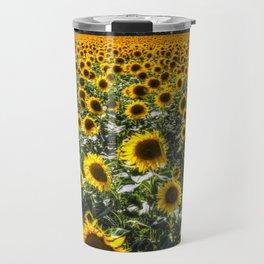 Sunflower Fields Of Summer Travel Mug