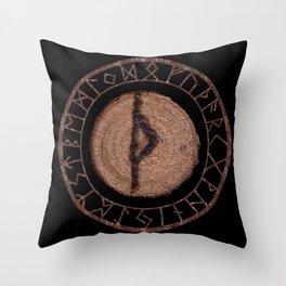 Thurisaz - Elder Futhark rune Throw Pillow
