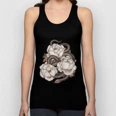 Snake and Peonies Unisex Tank Top