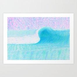 SURF WAVE | WATER COLOR Art Print
