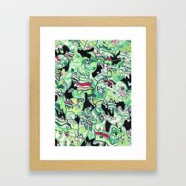 Tropical Leaf Camo Framed Art Print