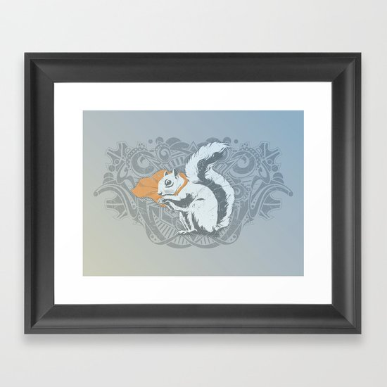 Fearless Creature: Chippy Framed Art Print