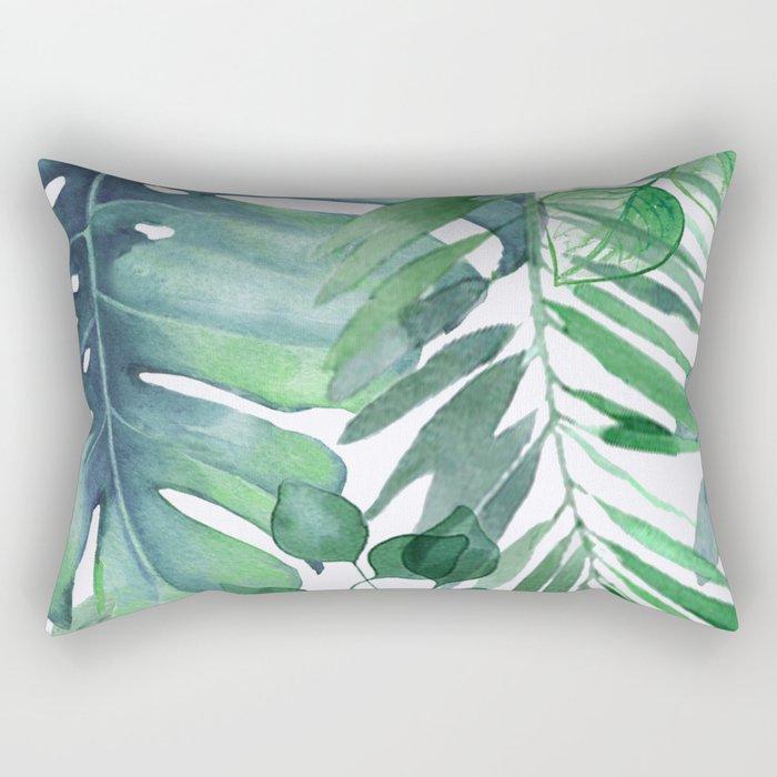 Tropical  Leaves Rectangular Pillow