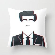 angst Throw Pillow