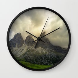 Dolomiti from Sella Pass Wall Clock