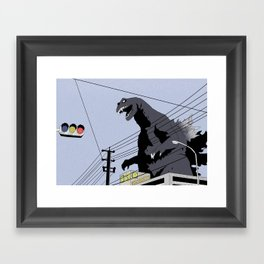 Godzilla, Mothra and King Ghidorah: Giant Monsters All-Out Attack Framed Art Print