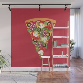 PIZZA POWER - PEPPERONI Wall Mural