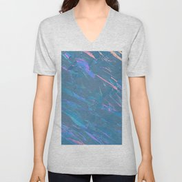 Holographic Artwork No 7 (Crystal) Unisex V-Neck