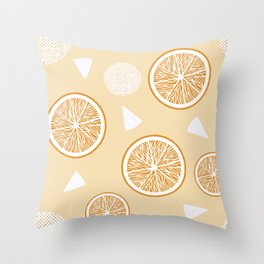 Orange and Triangle seamless pattern, from the Orange Blossom Pattern Collection Throw Pillow