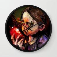 sister Wall Clocks featuring Little Sister by Vincent Vernacatola