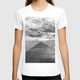 Pyramid at the sea in Cannes Black and white photography T-shirt