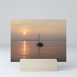 Anchored Off Shore Mini Art Print