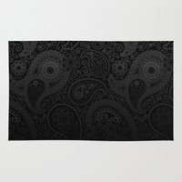 damask Area & Throw Rugs featuring Damask by Rothko