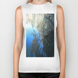 Abstract Nature in Blue Biker Tank