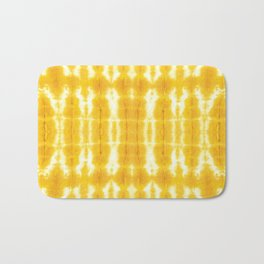 Yellow Linen Shibori Stripe Bath Mat