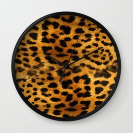 leopard pattern Wall Clock