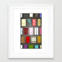 doors Framed Art Prints featuring Doors by Derek Temple