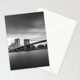 Monochrome panorama of Manhattan Stationery Cards