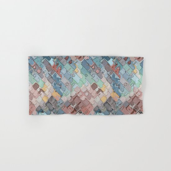 Colorful Layers Pattern Hand & Bath Towel