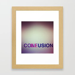 CONFUSION ILLUSION Framed Art Print