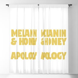Black Without Apology Blackout Curtain