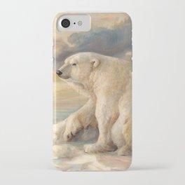 Polar Bear Rests On The Ice - Arctic Alaska iPhone Case