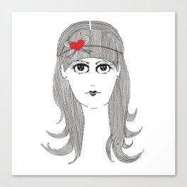 Ribbon Hair Canvas Print