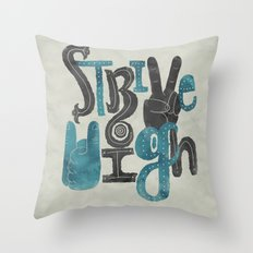 Strive High Throw Pillow