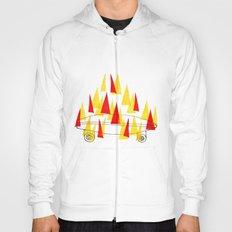 Flaming Skateboard Hoody