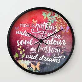A Thousand Perfect Notes quote 2 Wall Clock