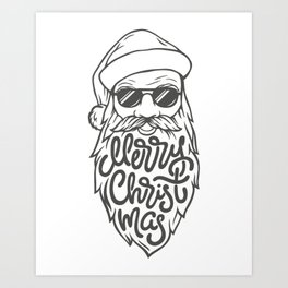 Merry Christmas Santa Claus Gift Idea Art Print