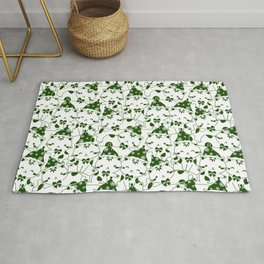 Winter Cats in Hats - Green Rug