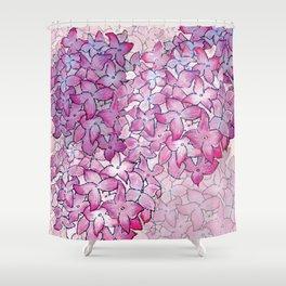Hydrangea Pattern Shower Curtain