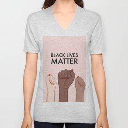 Stop racism, black lives matter Unisex V-Neck