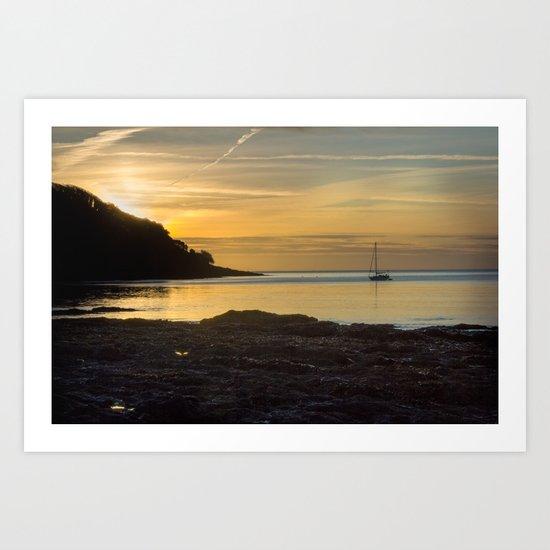 Sunrise Pendennis Point Falmouth Art Print