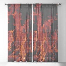 Fire Sheer Curtain