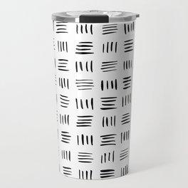 Lines on Lines // black Travel Mug